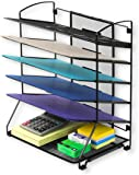 SimpleHouseware 6 Trays Desktop Document Letter Tray Organizer, Black
