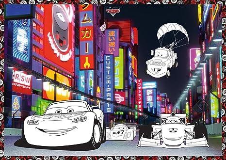Poster Da Colorare Disney Pixar Cars 2 Luci In Tokio Poster Da