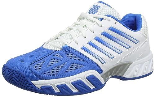 K-Swiss Performance Bigshot Light 3, Zapatillas de Tenis para Hombre, Blanco (White/Brilliant Blue/Black 130M), EU: Amazon.es: Zapatos y complementos
