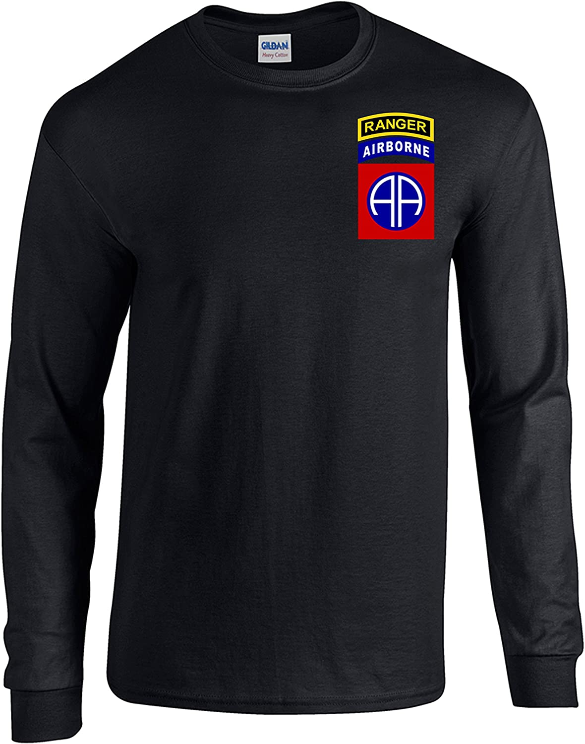 MILITARY NEW ARMY 82nd AIRBORNE long sleeve T-SHIRT// FRONT PRINT ONLY