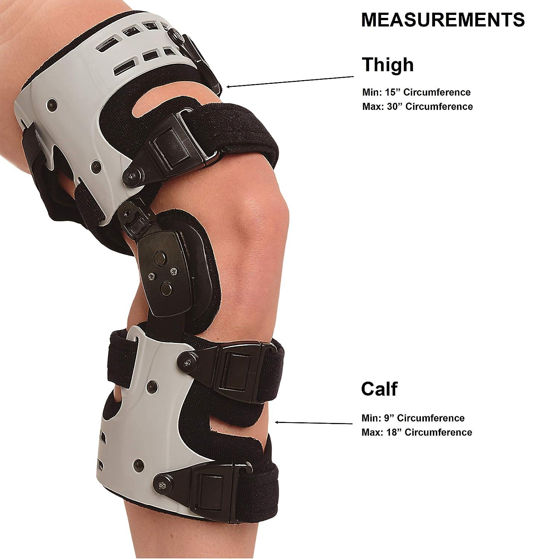Load Reduction Arthritis Cartilage Repair Knee Joint Pain Degeneration Left Medial or Right Lateral Brace Align Osteoarthritis Unloader Adjustable ROM Medical Knee Brace