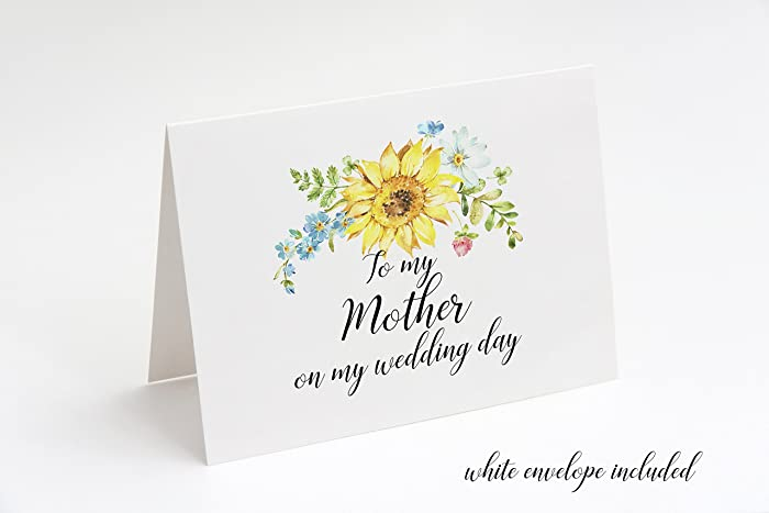 Amazon To My Mother On My Wedding Day Card Mother Of The Bride