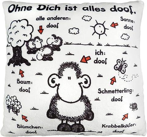Sheepworld Plüschkissen Wie schön dass es dich gibt Kuschelkissen Kissen Herz