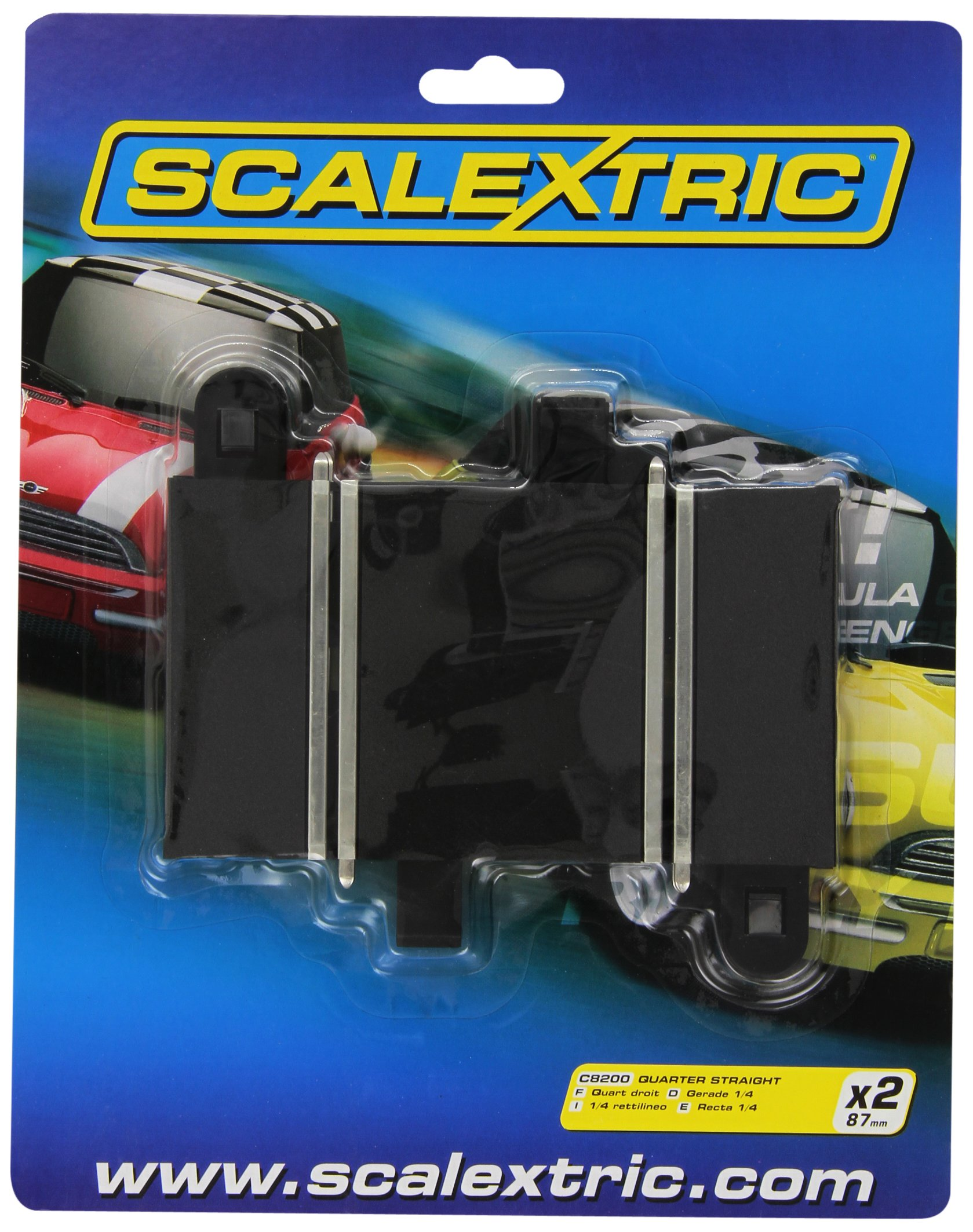 Scalextric C8200 Track Quarter Straight 3.25 inches