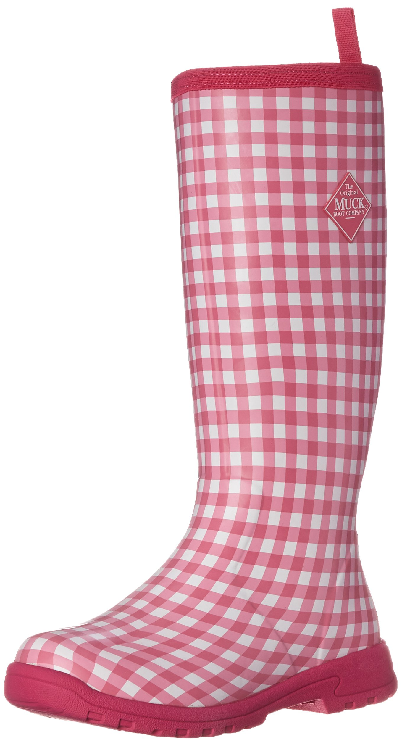 MuckBoots Women's Breezy Tall Insulated Rain Boot, Pink Gingham, 9 M US