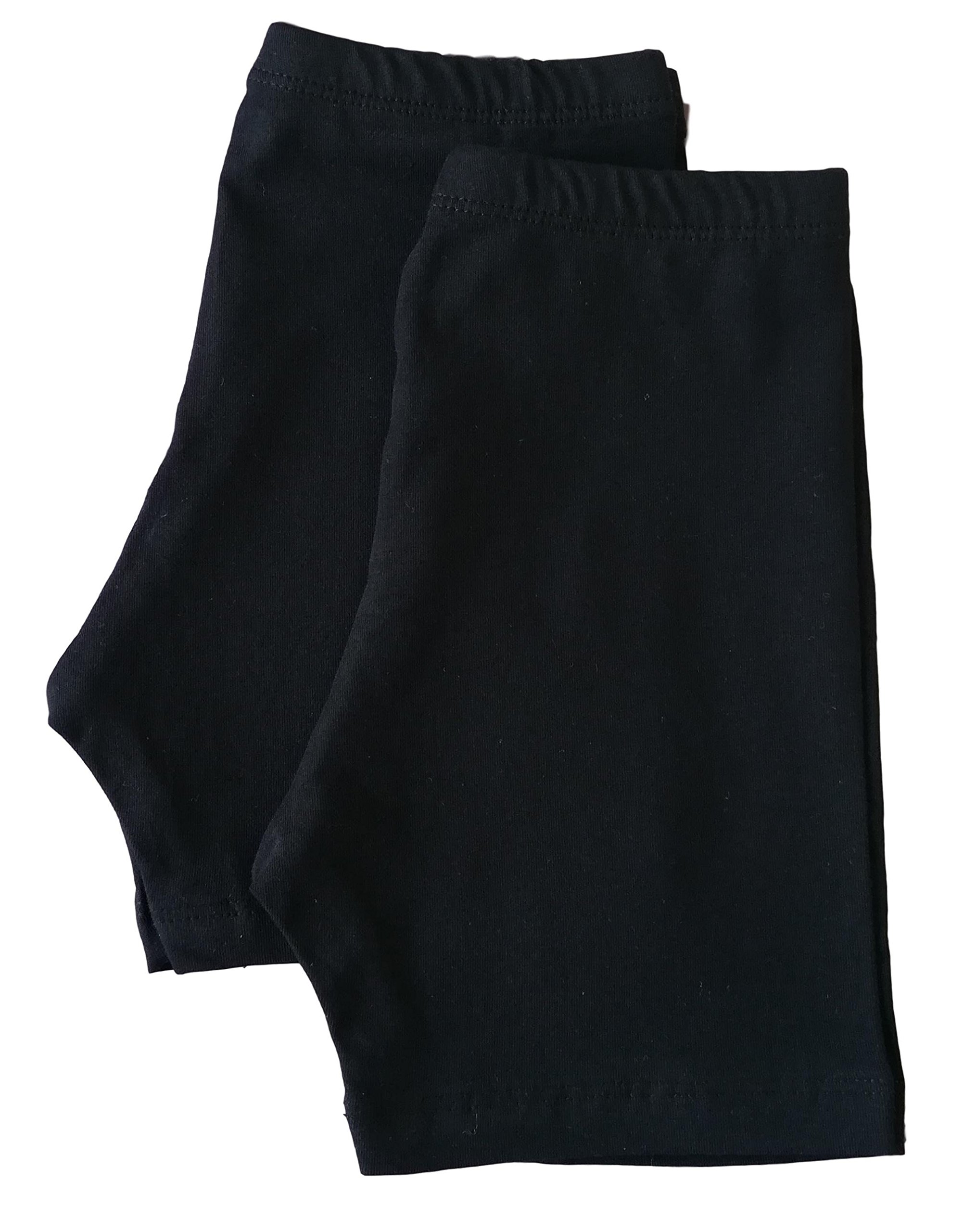 Luxor Egyptian Cotton Girls' Bike Shorts - Big Girls (9-12 Years) - Under Dresses and Sports - Value Pack of 2 Pairs (11-12 Years, Black)