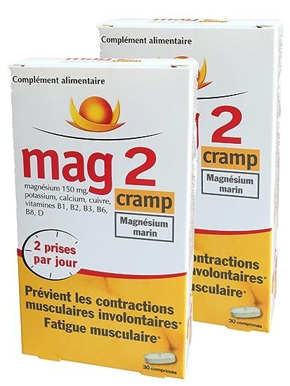 Mag 2 Cramp – Magnesio Marino – prévient los CONTRACTIONS musculaires involontaires, fatiga muscular –. Pasa el ratón por ...