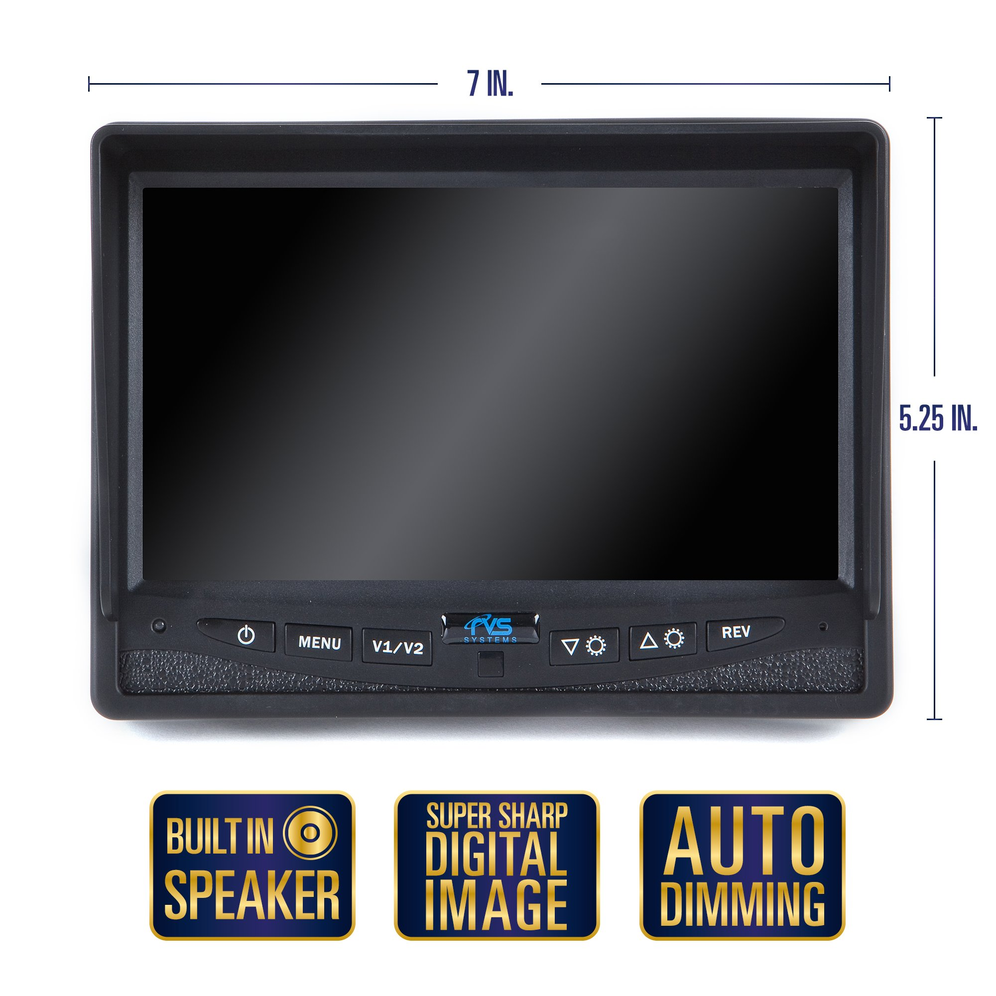 Rear View Safety RVS-770616N Backup Camera System with 7'' TFT LCD Display and Side Cameras by Rear View Safety (Image #4)
