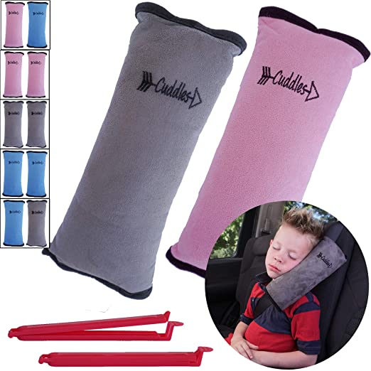 Seat Belt Pillow for Kids by Cuddles Baby Goods - The Large and Unique Design