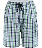 Latuza Men's Cotton Plaid Lounge Sleep Shorts