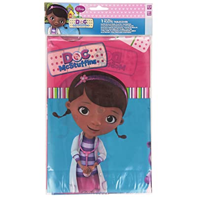 Disney Unique Party 71528 - Plastic Doc McStuffins Tablecloth, 1.8m x 1.2m: Toys & Games