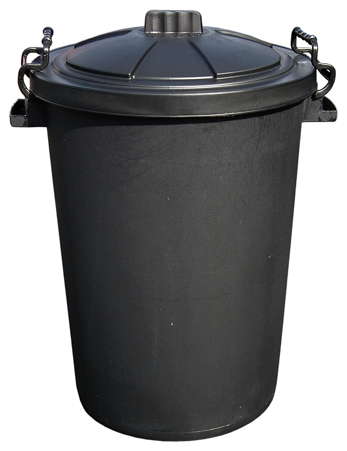 80L Capacity Outdoor Waterproof Garbage/Rubbish Bin With Lockable Lid KD & Jay