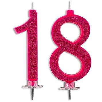 Velas Maxi 18 años para Tarta Fiesta cumpleaños Decoraciones ...