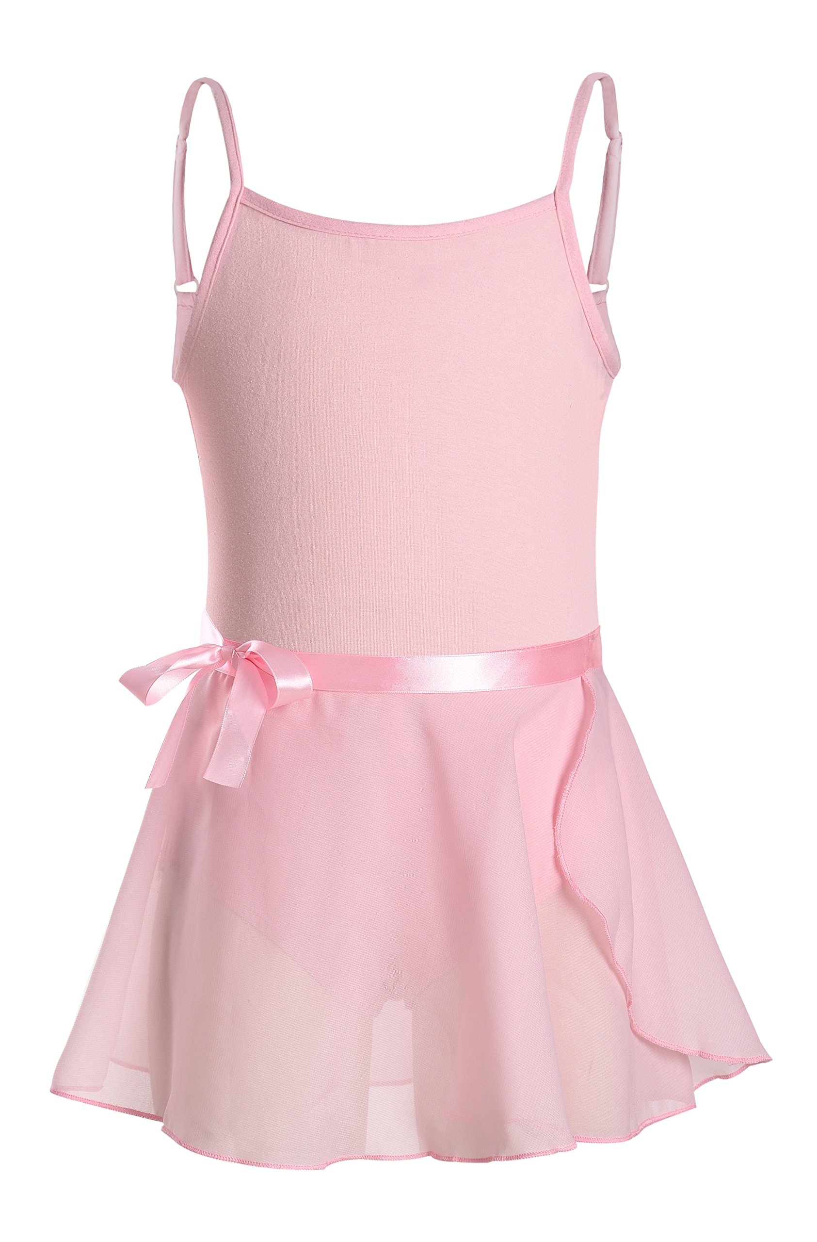 DANSHOW Girls' Camisole Tutu Dress Leotard with Skirt (2-4, Pink)