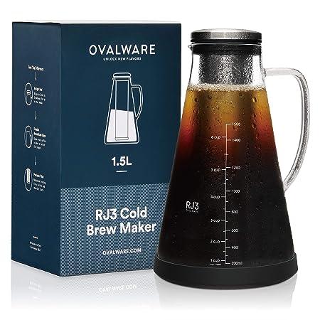 Cafetera hermética de colado en frío e infusor de té - jarra de ...