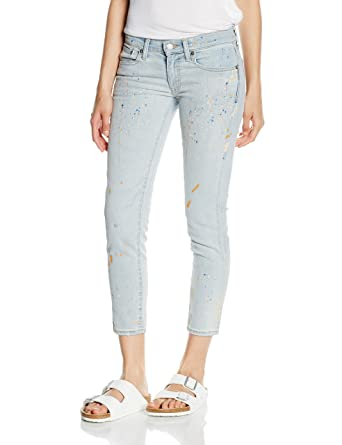 Polo Ralph Lauren Tompkins Skinny Crop Jeans, Bleu (Kennedy Painted