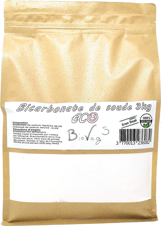 BioVeg5 – Bicarbonato de soda 3 kg – ECO – Extra fino 100 μm ...