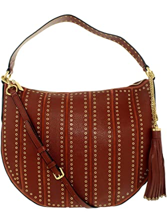 cc876cb2e585d1 Amazon.com: Michael Kors Women's Large Brooklyn Grommet Convertible Leather  Top-Handle Bag Hobo - Brick: Michael Kors: Watches