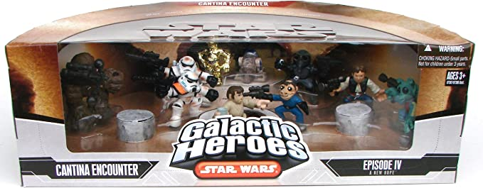 Star Wars Galactic Heroes Mos Eisley Cantina Band toy figure set of 3 Boy Toys