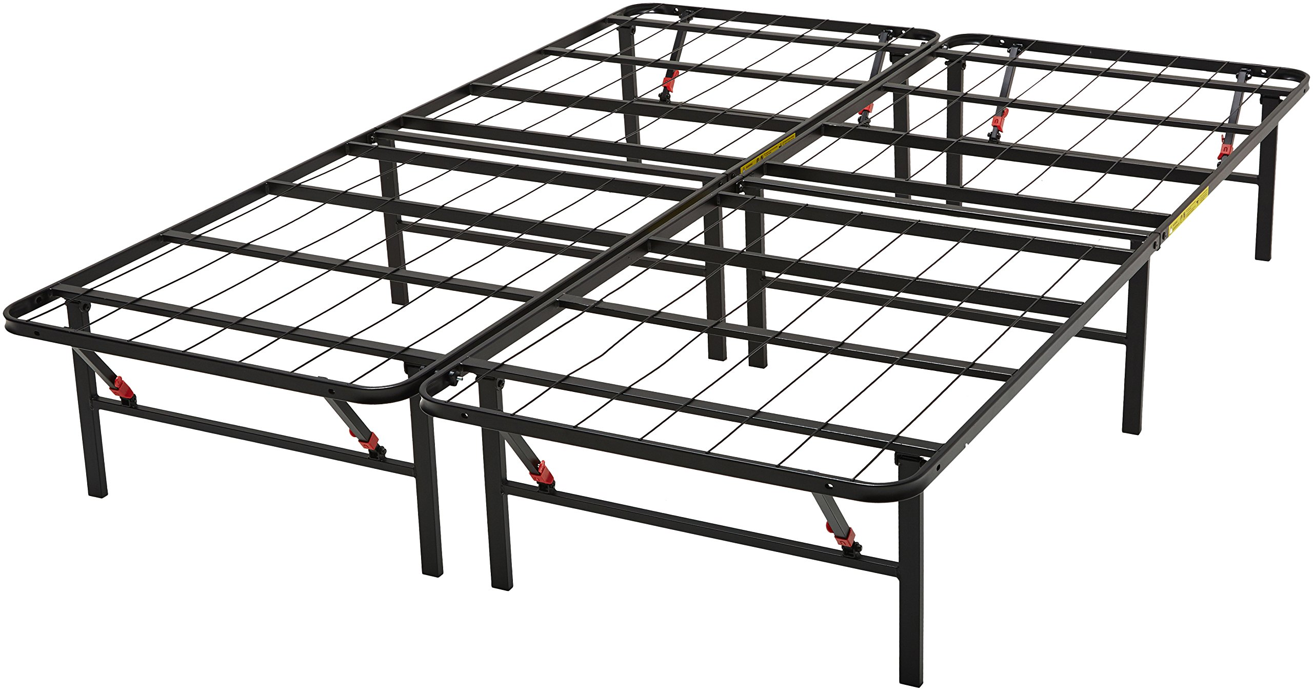 AmazonBasics Platform Bed Frame, Black, Queen