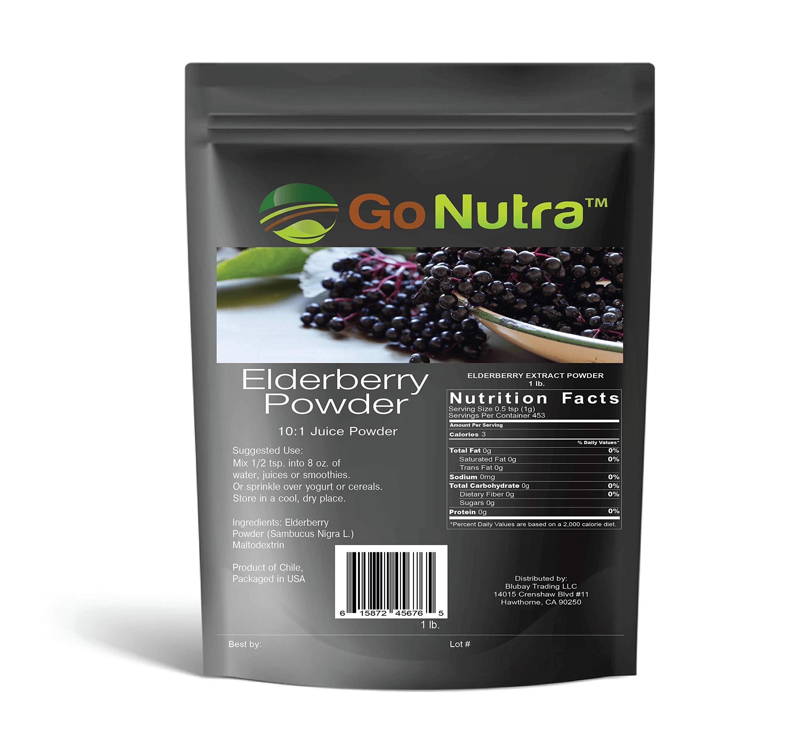 Elderberry Juice Powder 1 lb. Sambucus Nigra 10:1 Non-GMO from Chile