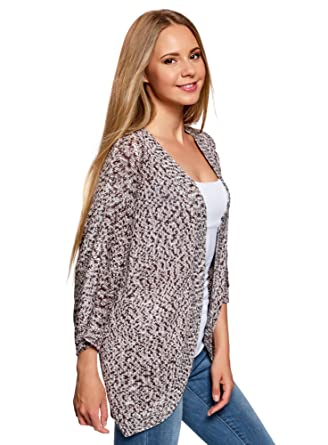 oodji Ultra Mens Relaxed-Fit No Closure Cardigan