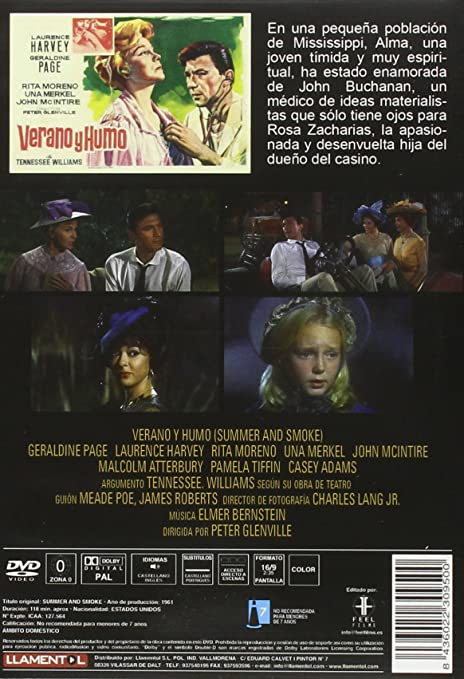 Verano Y Humo [DVD]: Amazon.es: Laurence Harvey, Geraldine ...