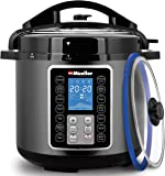 Mueller 6 Quart Pressure Cooker 10 in 1, Cook 2 Dishes at Once, Tempered Glass Lid incl, Saute, Slow Cooker, Rice Cooker…
