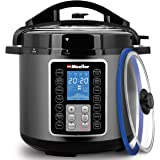Mueller UltraPot 6Q Pressure Cooker Instant Crock 10 in 1 Pot with German ThermaV Tech, Cook 2 Dishes at Once, BONUS Tempered