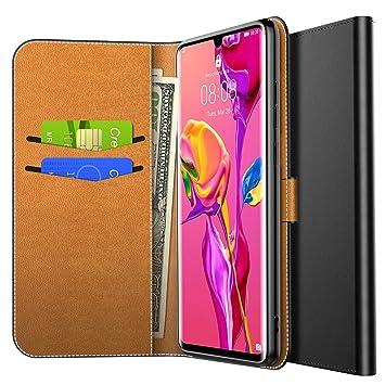 02f1eef90ce Yocktec Funda para Huawei P30 Pro 2019, Funda de Billetera con Tapa de  Cuero Ultra