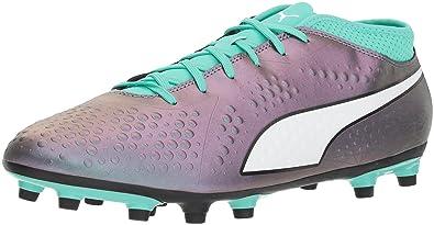 cf437ba8912 PUMA Men's ONE 4 IL Syn FG Soccer Shoe, Color Shift-Biscay Green White