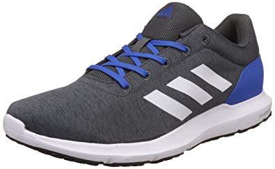 adidas Men's Cosmic 1.1 M Dgreyh, Ftwwht and Blue Running Shoes - 10 UK/