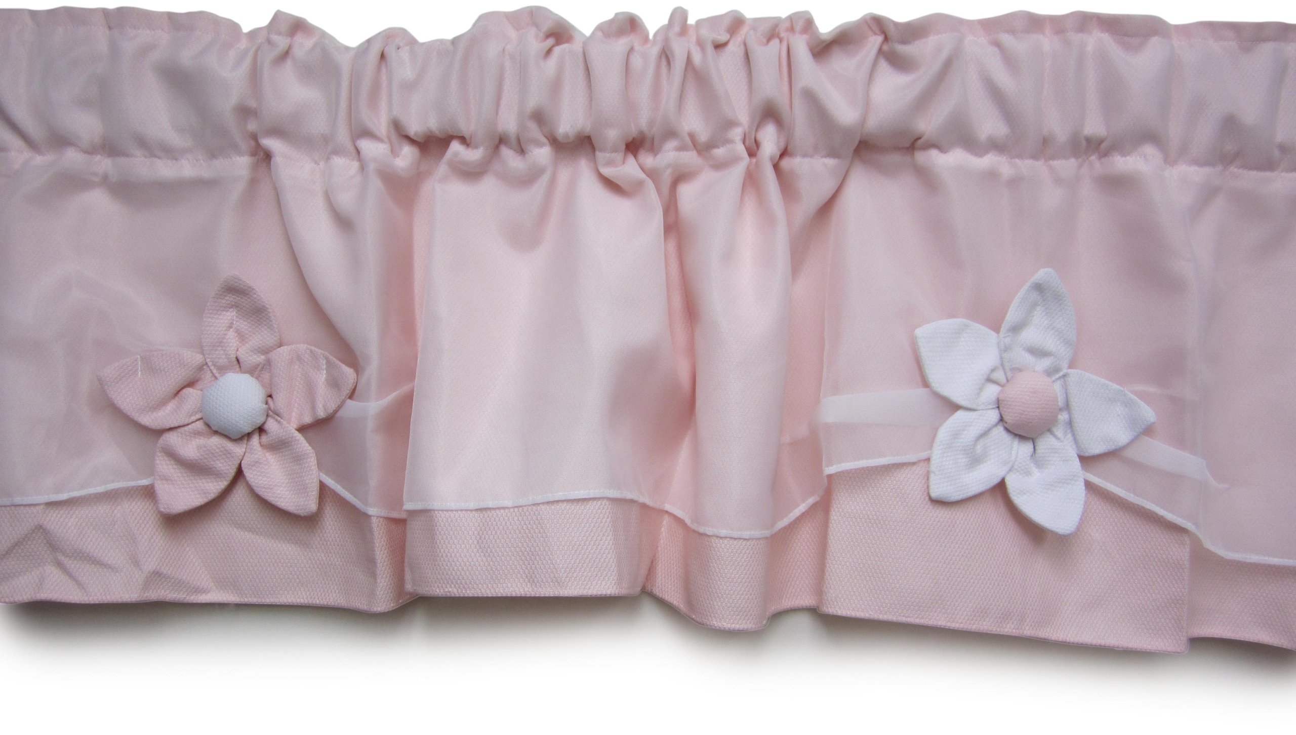 Baby Doll Bedding Regal Pique Window Valance, Pink