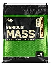 OPTIMUM NUTRITION Serious Mass Weight Gainer Protein Powder, Chocolate Peanut Butter, 5.44 kg