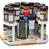 Spice Spinner Two-Tiered Spice Organizer & Holder That Saves Space, Keeps Everything Neat, Organized & Within Reach With Dual