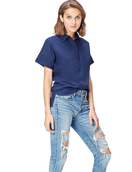 FIND Camisa Oversized de Popelina para Mujer: Amazon.es: Ropa y accesorios