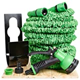 Scott & Co®, UltraPro 100ft Triple Layer, Non Kink Expanding Garden Hose Pipe Complete With Metal Hose Hanger, 8 Setting Soft Grip Professional Spray Gun And 2 x Hose Connectors. Your 100ft UltraPro Expandable Hose Comes Completely Risk Free With A 365 DAY MANUFACTURES GUARANTEE. Gift Boxed
