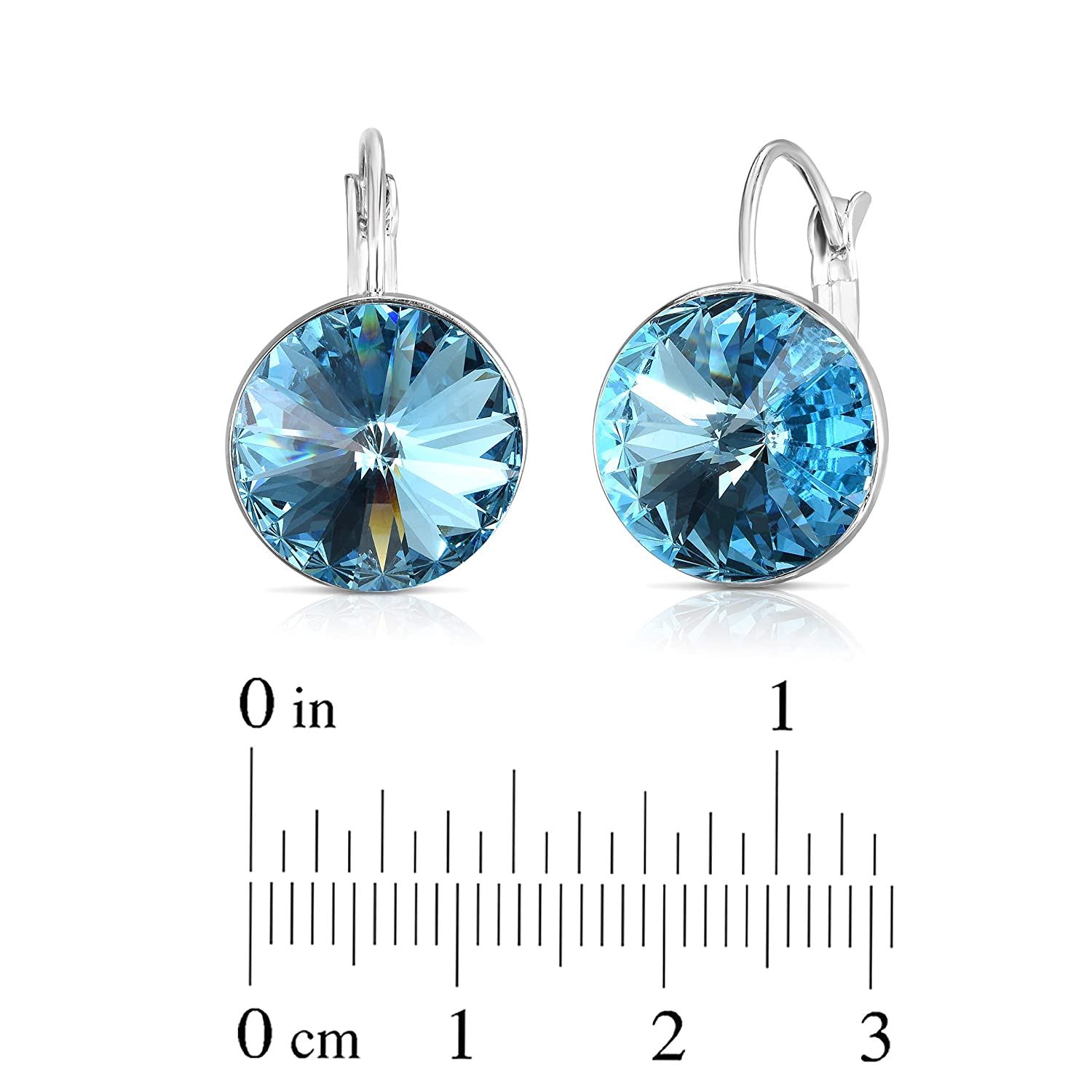 eb2d57bc622aa Unique Royal Jewelry Swarovski Crystal Bella French Wire Clip Pierced Post  Drop Designer Earrings.
