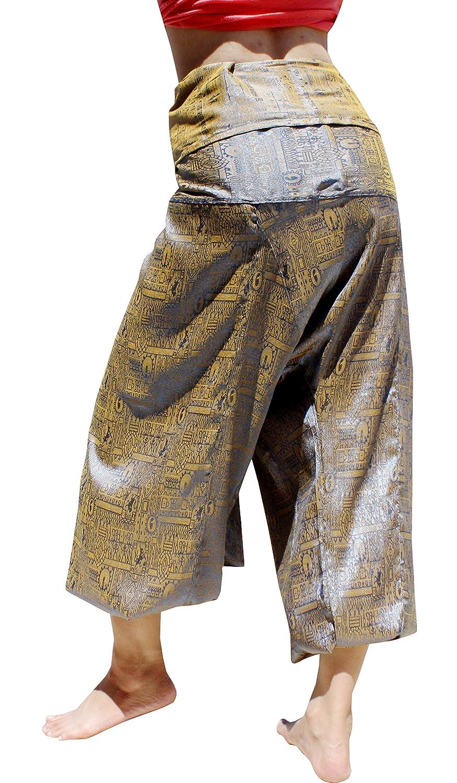 RaanPahMuang Premium Siams Silk Fisherman Wrap Pants Full Featured Unique Design