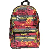 Harry Potter Hogwarts of Witchcraft and Wizardry Alumni Patch Gryffindor Allover Print Backpack Book Bag