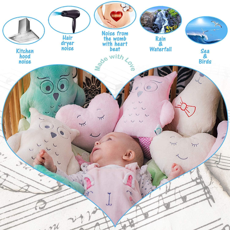 Jouet de sommeil,agr/éable cadeau bo/îte MyDreamy,hummy avec capteur de sommeil peluche pour b/éb/és,enfants,nouveau-n/és 5 diff/érentes sons de bruit blanc d/étend sommeil
