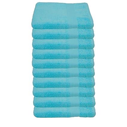 Juego Julie Julsen de 10 toallas para invitados de 30 x 50 cm, suaves y