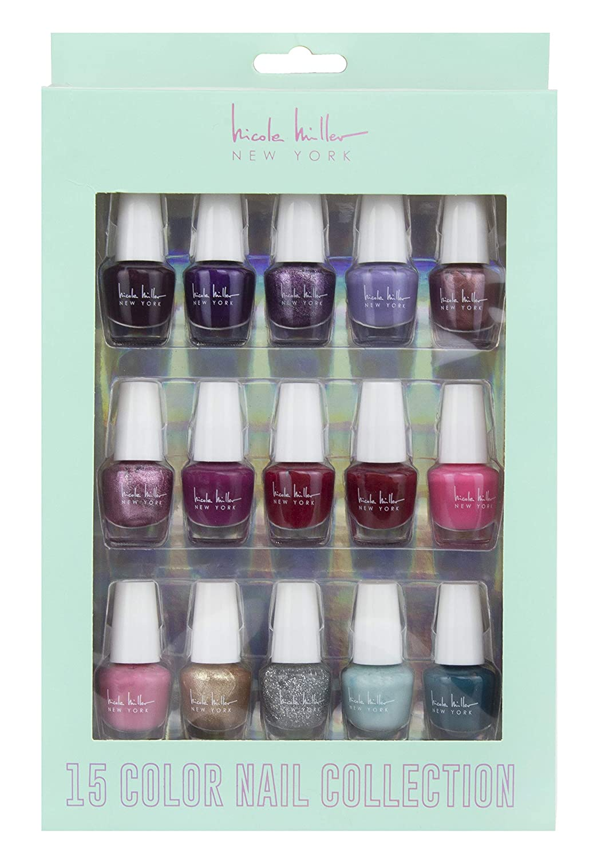 Amazon.com : Nicole Miller Mini Nail Polish Set - 15 Glossy and ...