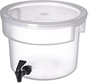 Carlisle 221930 See Thru 3 Gallon Round Beverage Dispenser