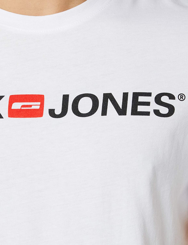 Jack /& Jones Mens Jje Corp Logo Tee Crew Neck T-Shirt