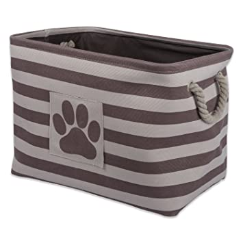 DII Bone Dry Large Rectangle Pet Toy And Accessory Storage Bin,  18x12x15u0026quot;, Collapsible
