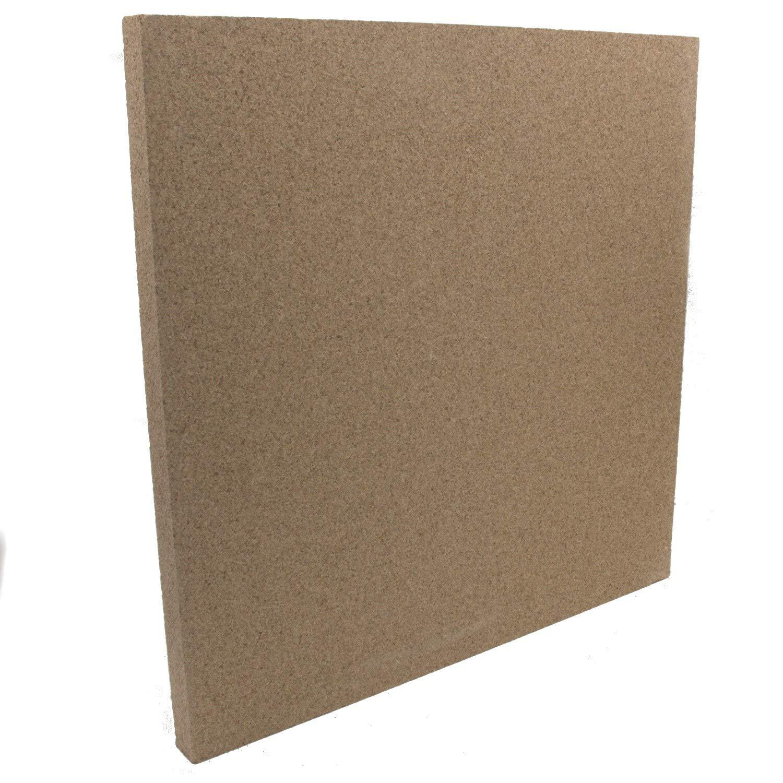 Vermiculit-Platte Vermiculite Schamottstein Schamotte Ersatz 50x50x3 cm 1 Platte