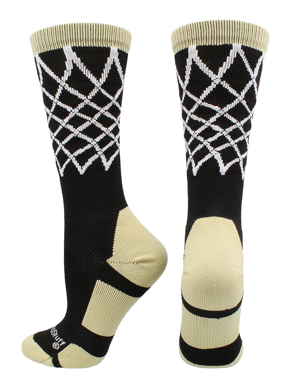 MadSportsStuff Crew Length Elite Basketball Socks with Net (Multiple Colors)