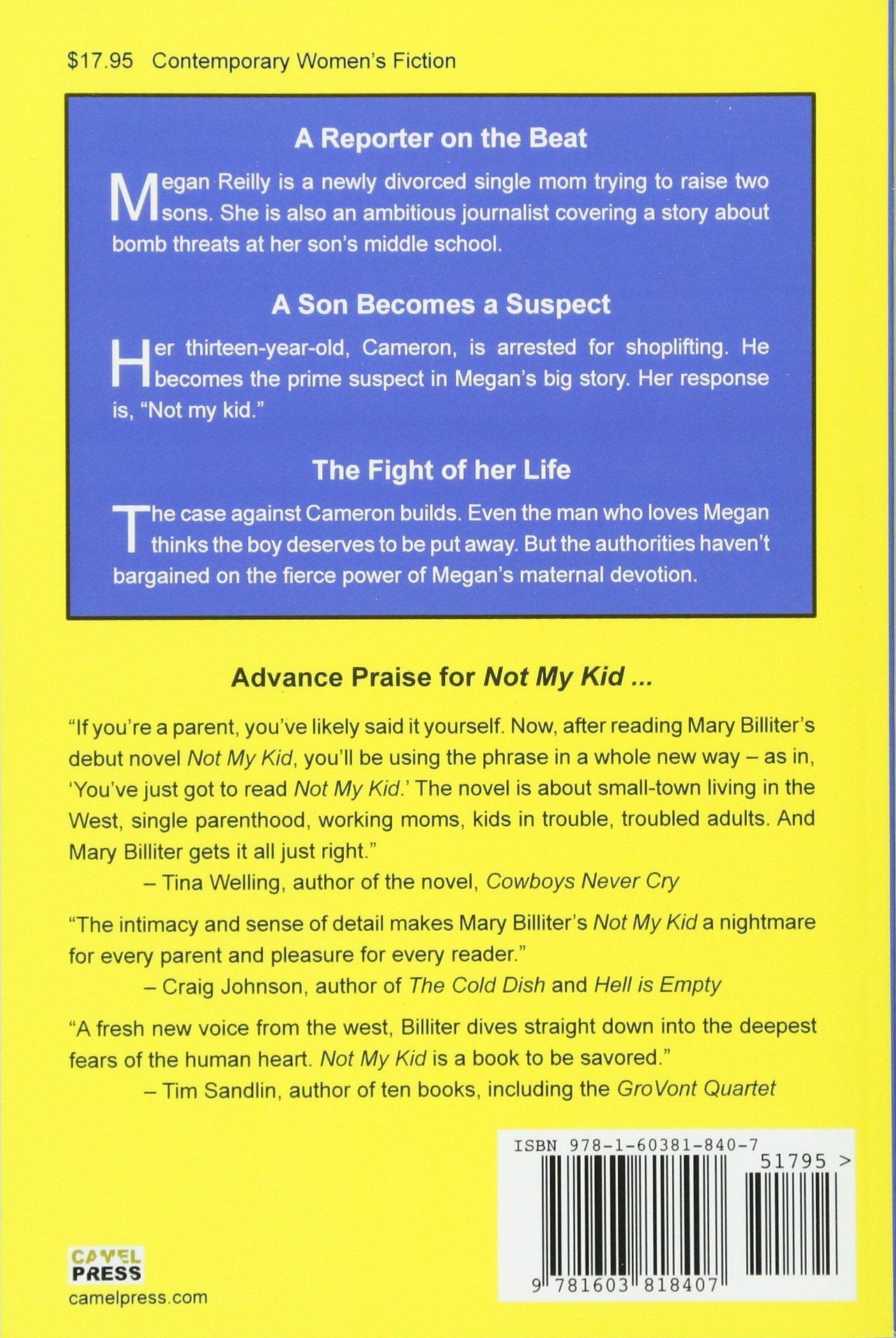 Amazon com: Not My Kid (9781603818407): Mary Billiter: Books