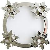 Biedermann & Sons Chrome Snowflake Advent Ring, 8-Inch Diameter
